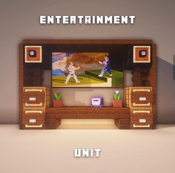 Minecraft Entertainment Stand
