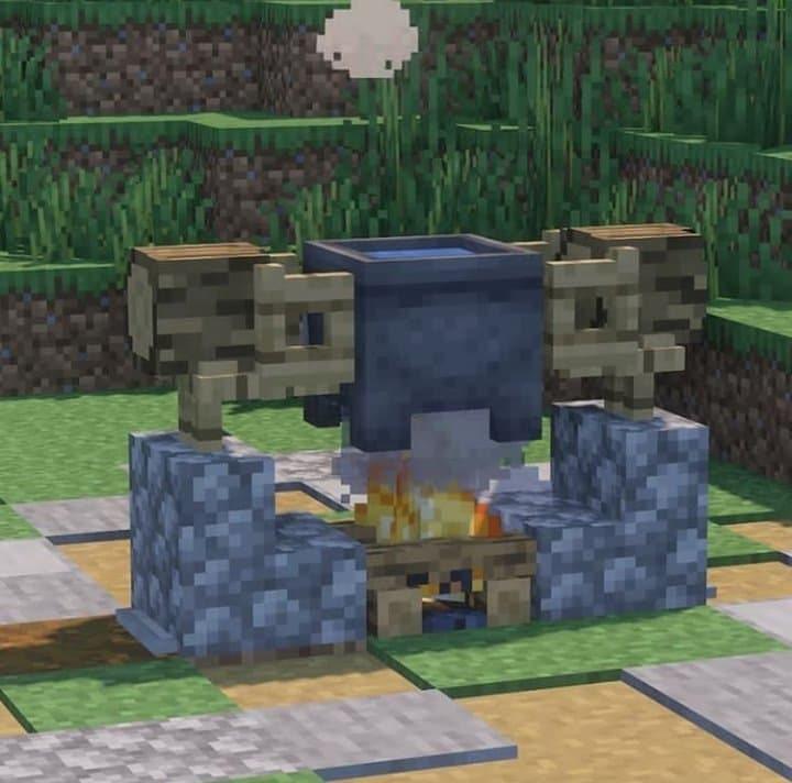 Minecraft Outdoor Cauldron