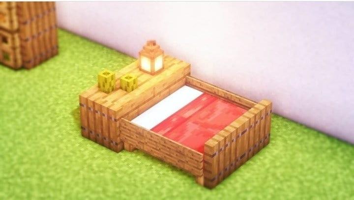 Luxury Minecraft bed showcase