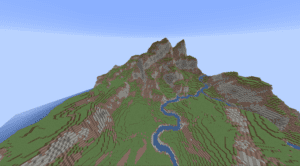 Minecraft Mountain Terrain Example