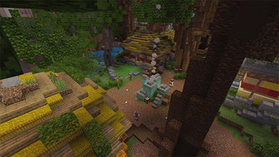 An Example of a Complex Minecraft Adventure Map