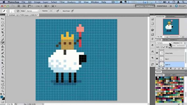Minecraft Animating Pixel Art in Photoshop